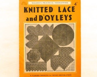Weldon's Practical Needlework Knitted Lace and D'Oyleys