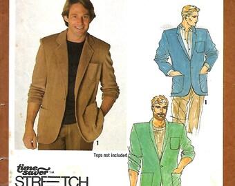 Simplicity 9293 Men's Knit Unlined Blazer Pattern, 34-38, UNCUT