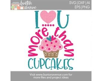 Cupcake SVG, Valentines svg files, valentine dxf files, girl valentine svg, valentines day svg, cupcake valentine svg, valentine shirt svg