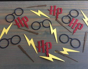 100 Harry Potter confetti pieces, Harry Potter birthday, Harry Potter baby shower, hardy potter geek party, decorations