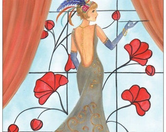 Daisy Buchanan-The Great Gatsby postcard