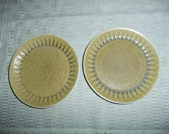Vintage Relief set of two salad plates   - Kronjyden Denmark - Jens Quistgaard design