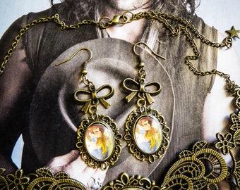 Earrings cameo calavera dia los muertos mexican gypsy Bohemian ♠ Bella ♠
