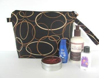 Men's Toiletry kit, Cosmetics bag, Socks knitting bag, Wrist Project bag, knit crochet or travel case Gift for Dad