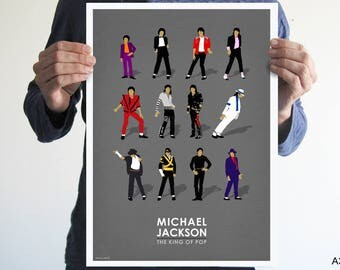 michael jackson poster,Digital print,Illustration,wall decor,music poster,pop poster,vintage poster,music,Bad,thriller,michael jackson art,
