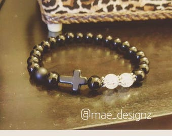 Onyx and Clear Cross