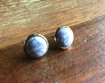 turquoise earrings / howlite earrings / pink turquoise earrings / white turquoise earrings