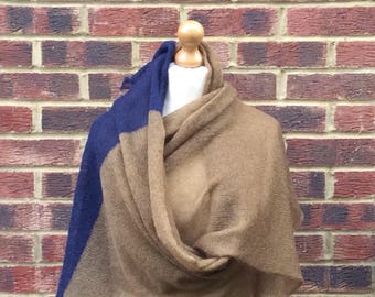 Mohair Knit Blanket Shawl.Extra Large Soft Mohair Winter scarf. Unisex mohair wrap shawl. Extra Large Winter Blanket Scarf.