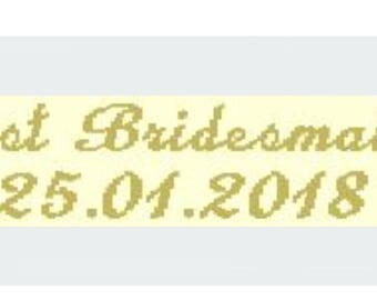 Personalised labels for Bridesmaids Gifts , pack of 12. Custom labels for your Wedding . Clothing labels for yourWedding  dress shawl bolero