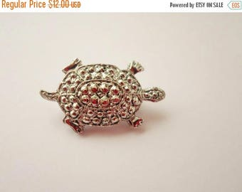 ON SALE Vintage Gerry's Silver Turtle Brooch, Small, Pin, Collectible, Bridal Brooch Bouquet, 2 Available, Signed Brooch, Jewelry, Accessori