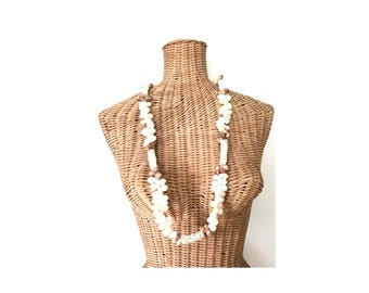Native Coral and Seashell Necklace