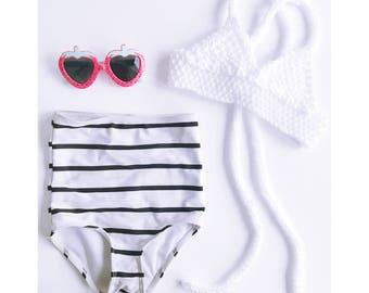 Boho Baby Bikini Top - Knit Bikini top for baby girl in WHITE - Toddler Bikini - Bohemian Baby - knitted crop top