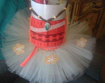Moana Top and Skirt Costume Girl Tutu Dress