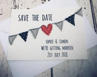 Save the Date Bunting Cards