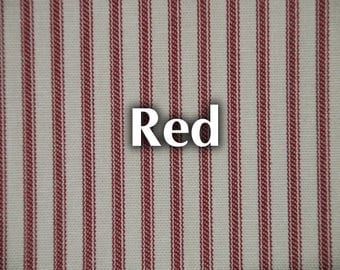 Striped Ticking Remnant - Red