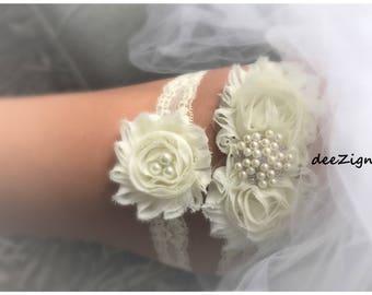 Crystal Garter Set, Vintage Wedding Garter Set, Pearl Wedding Garter, Pearl Garter, Garter Set, Vintage garter, Keepsake Garter, Rustic