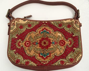 Isabella Fiore tapestry beaded purse