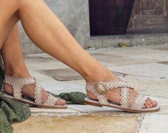 SALE. Sz. 8. MERMAID. Leather sandals / barefoot sandals / women sandals / leather shoes / boho shoes.