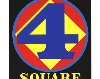 Robert Indiana-Polygon: Square (Four)-1997 Serigraph