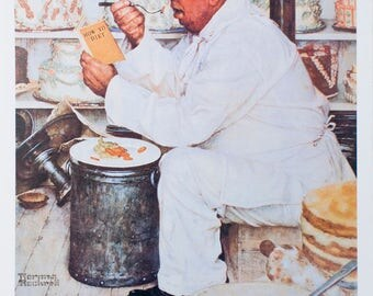 Norman Rockwell-Weighty Matters-1992 Poster