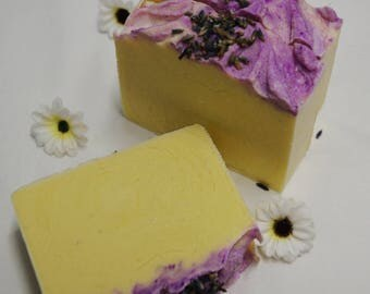 Handmade Lavender Cold Process Body Soap Bar