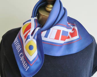 LORD SELKIRK scarf, MS Lord Selkirk 11. Manitoba souvenir,cruise scarf, Canadian scarf, Canadiana, shipping flags, Manitoba Canada