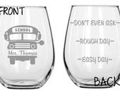 Bus Driver Glass FREE Personalization Funny