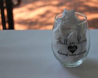 Fall in Love Wine Glass or Mug