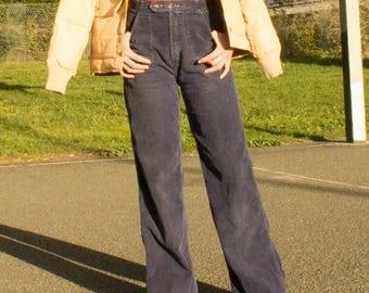 Vintage navy corduroy wide leg pants