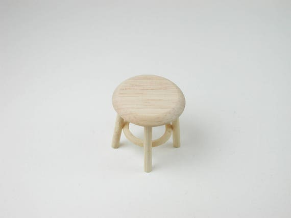 Small stool, for the doll parlor, the doll's House, Dollhouse miniatures, cribs, miniatures, model building # 840-231