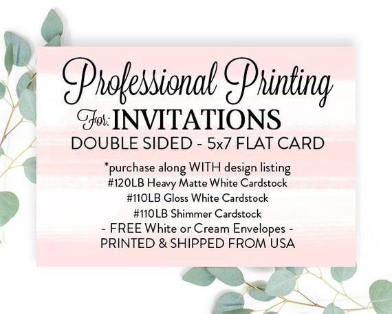 Printed invitations 5x7 with envelopes printed 5x7 invites print il570xn stopboris Images