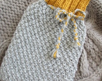 Double Moss Stitch Hot Water Bottle Cover 1 ltr