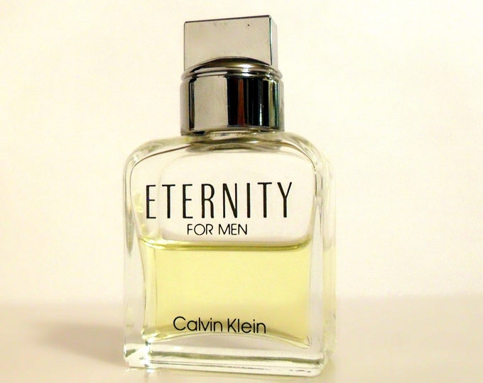 Vintage 1990s Eternity for Men by Calvin Klein 0.5 oz Cologne Splash Mini Miniature Travel Size