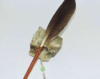 Goose feather quill dip pen Calligraphy Spell-writing Book of Shadows Wicca Pagan SCA Journaling Love Letters Art work RTS ready to ship