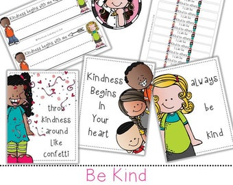 Be Kind clip  art and printable set