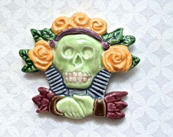 DOLLAR STORE - Day of the Dead Skull - Ceramic Tile - Mosaic Supply
