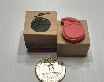 small Peach rubber stamp, 21 mm (BB4/5)