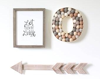 Felt Ball Alphabet Letters, Nursery Decor, Wedding Decor,Pom Poms, Kids Bedroom, Felt Ball Initials, 3D Letters, Playroom, Wall Decoration