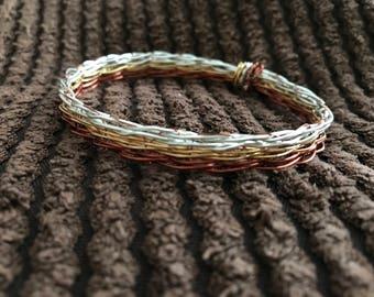 wire weaving bracelet
