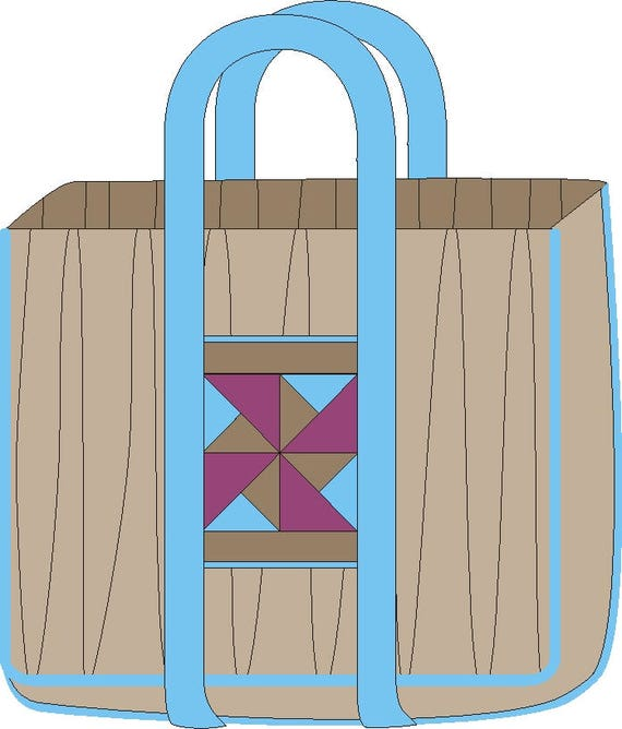 PDF Sewing Pattern - Patchwork Storage and Carry BAG, Padded Carry ...