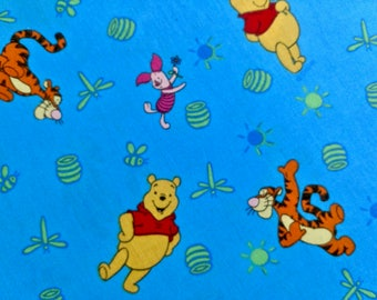 """Disney Winnie the Pooh fabric 1 yard and 34 inches long by 44"""" wide"""