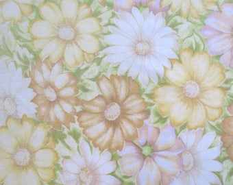 One Yard of Vintage Sheet Fabric - Muted Floral