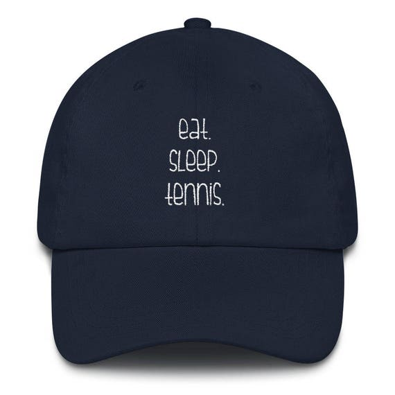 Eat Sleep Tennis Hat Baseball Cap Tennis Gift Luna B. Tee