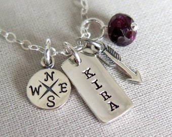 SALE Graduation Gift, Graduation Necklace, Personalized Graduation Necklace, Class of 2017 Necklace, Personalized Tiny Charm Necklace