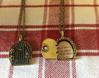 Hobbit inspired locket with saying