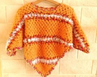 Kids fancy woolen poncho crochet.