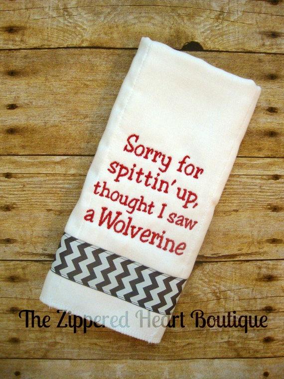 Buckeye Burp Cloth