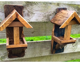 Rustic Reclaimed Wood Bird Feeders Country Garden
