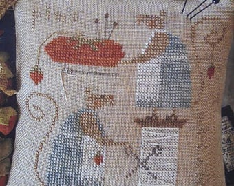 Mice in the Sewing Room - Cross Stitch graph by Brenda Gervais - With Thy Needle & Thread