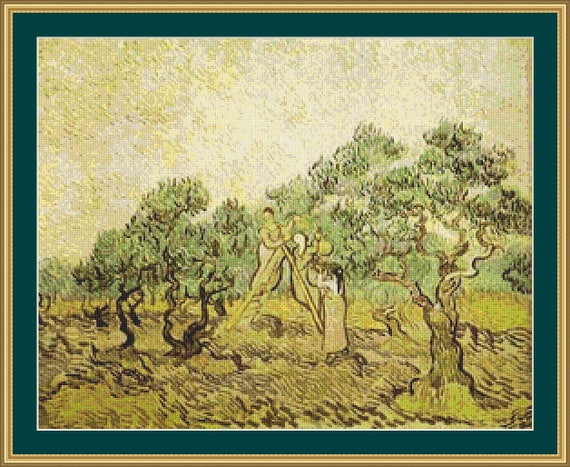 The Olive Orchard Cross Stitch Pattern /Digital PDF Files /Instant downloadable